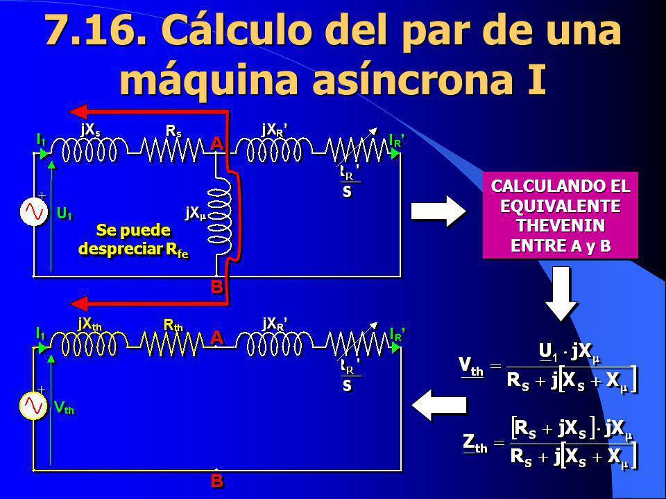 7.16. Cálculo del par de una máquina asíncrona I