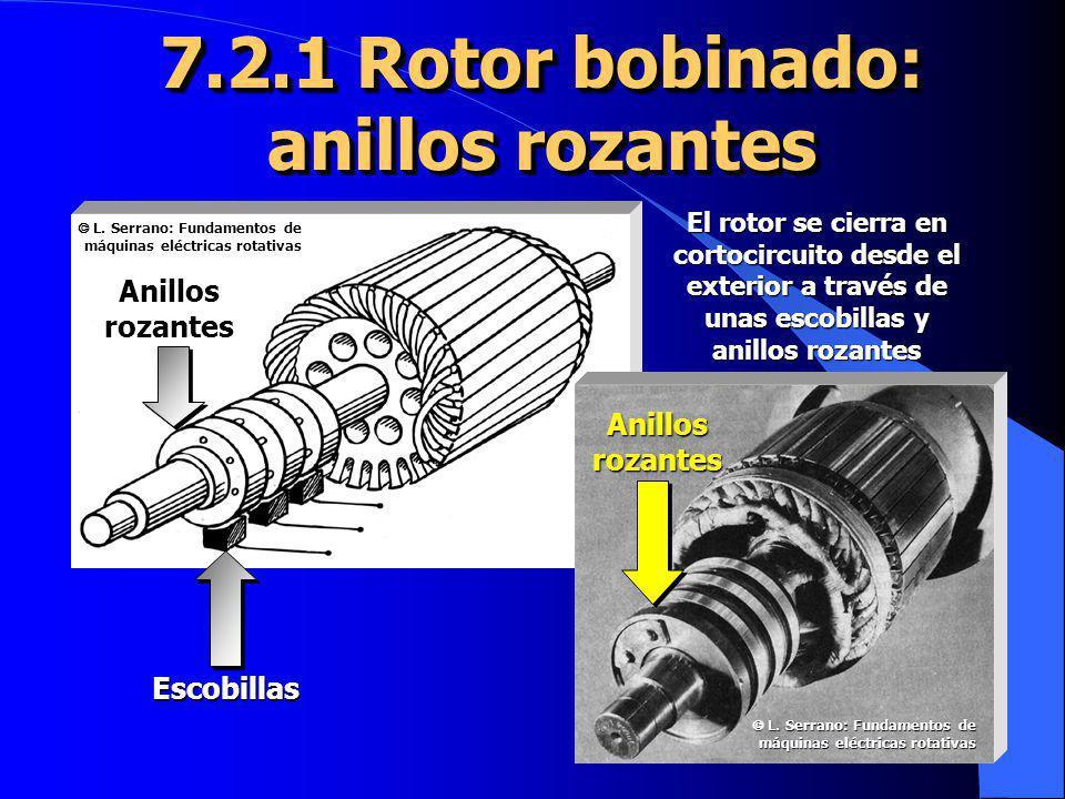 7.2.1 Rotor bobinado: anillos rozantes