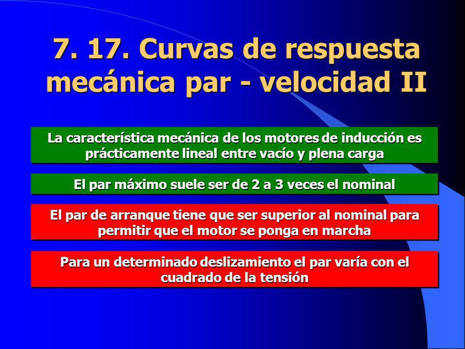 7. 17. Curvas de respuesta mecánica par - velocidad II