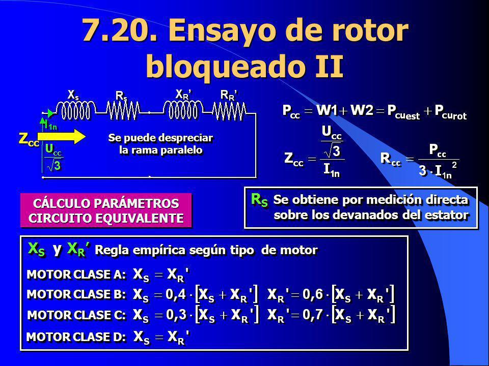 7.20. Ensayo de rotor bloqueado II