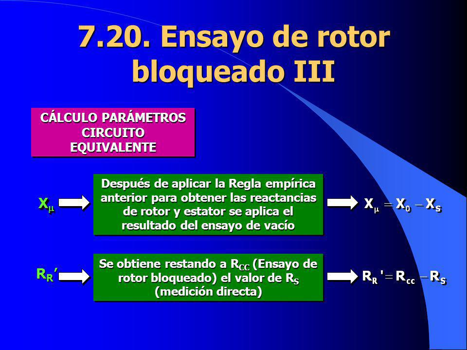 7.20. Ensayo de rotor bloqueado III