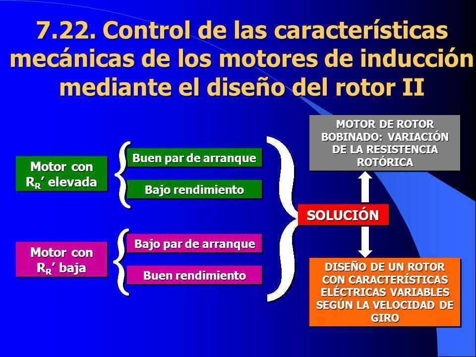 MOTOR DE ROTOR BOBINADO: VARIACIÓN DE LA RESISTENCIA ROTÓRICA