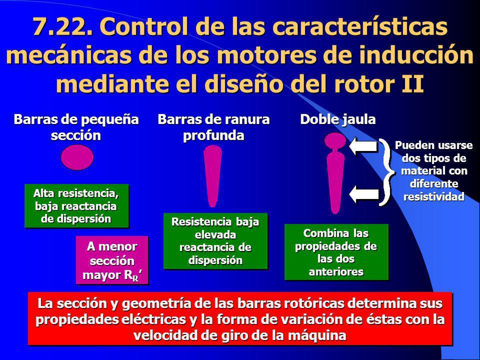 7.22. Control de las características mecánicas de los motores de inducción mediante el diseño del rotor II