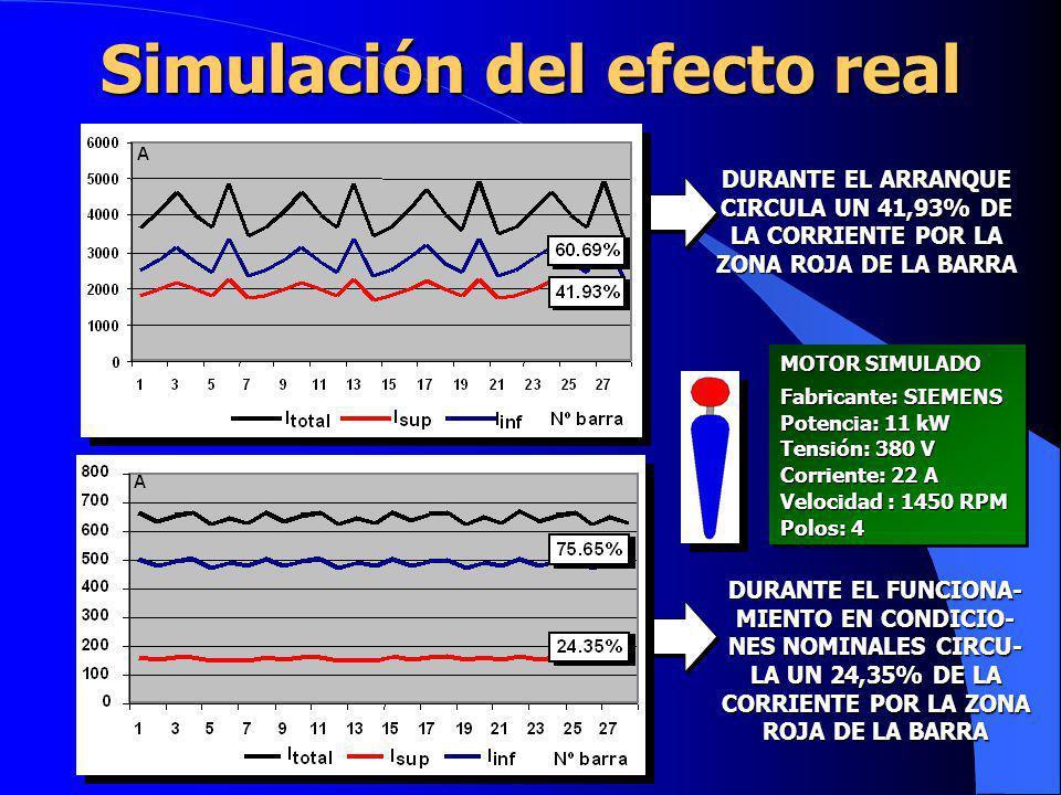 Simulación del efecto real