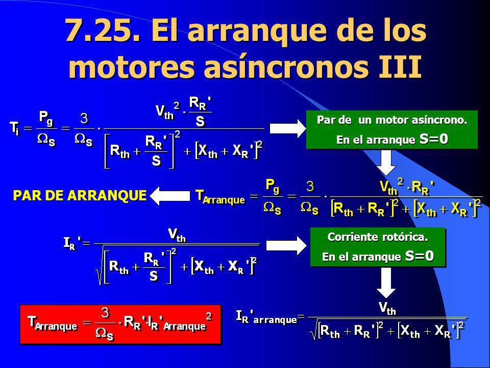 7.25. El arranque de los motores asíncronos III