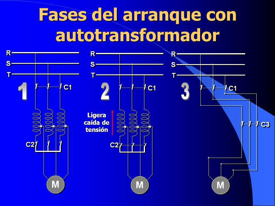 Fases del arranque con autotransformador