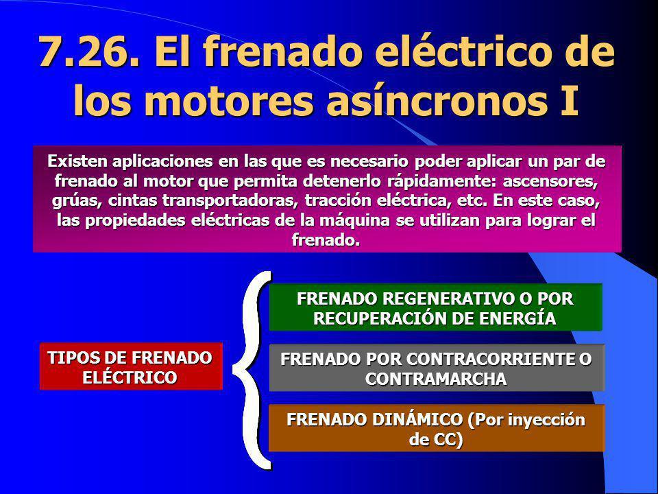 7.26. El frenado eléctrico de los motores asíncronos I
