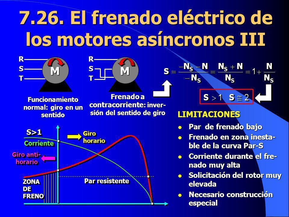 7.26. El frenado eléctrico de los motores asíncronos III