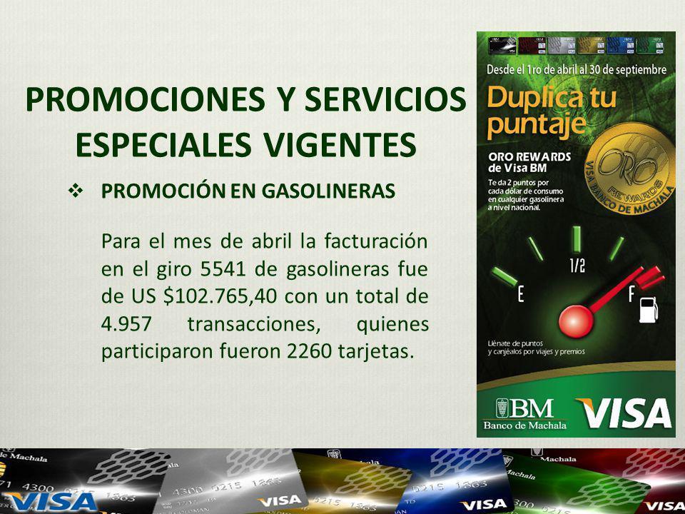 PROMOCIONES Y SERVICIOS ESPECIALES VIGENTES