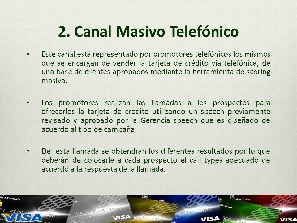 2. Canal Masivo Telefónico