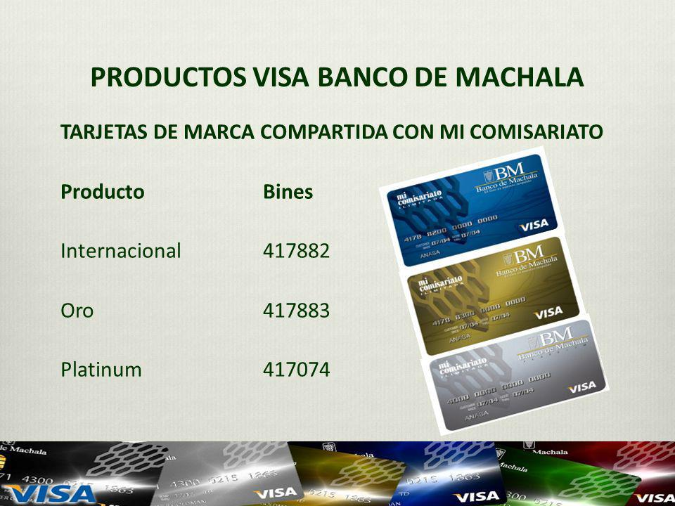 PRODUCTOS VISA BANCO DE MACHALA