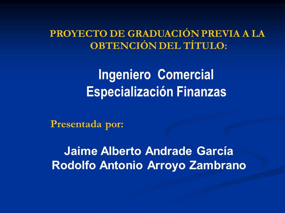 Ingeniero Comercial Especialización Finanzas