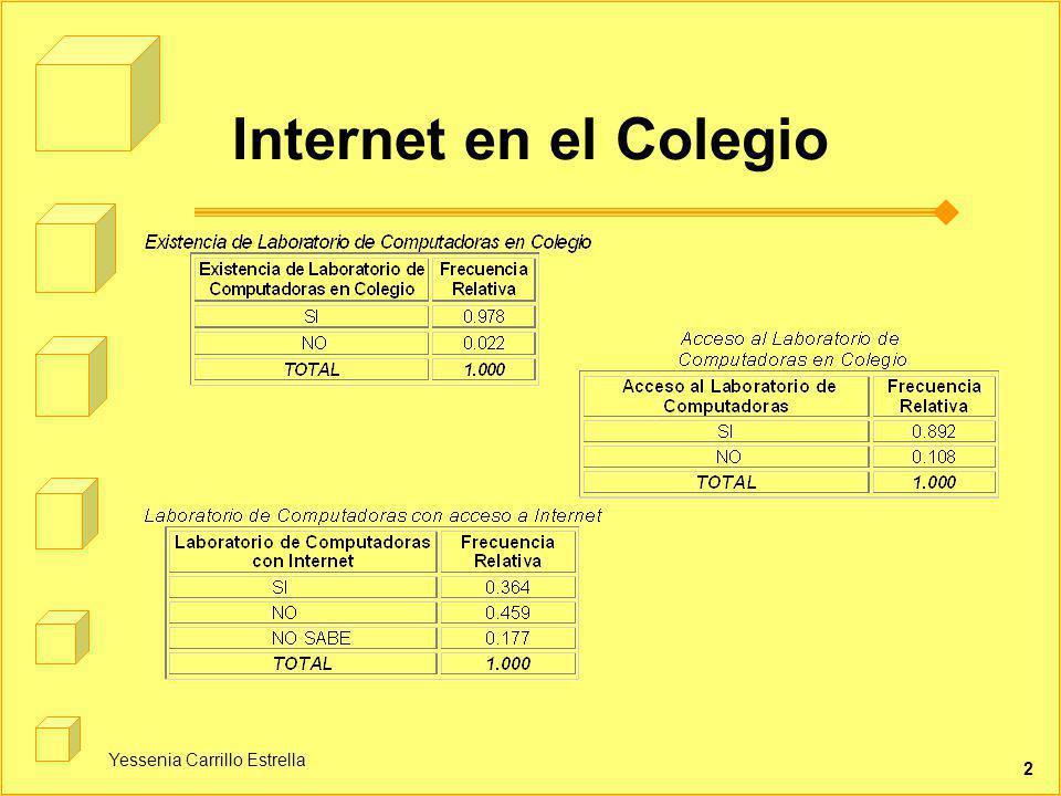 Internet en el Colegio Yessenia Carrillo Estrella