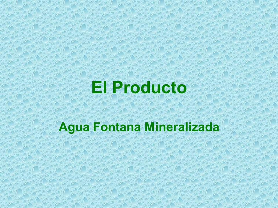 Agua Fontana Mineralizada