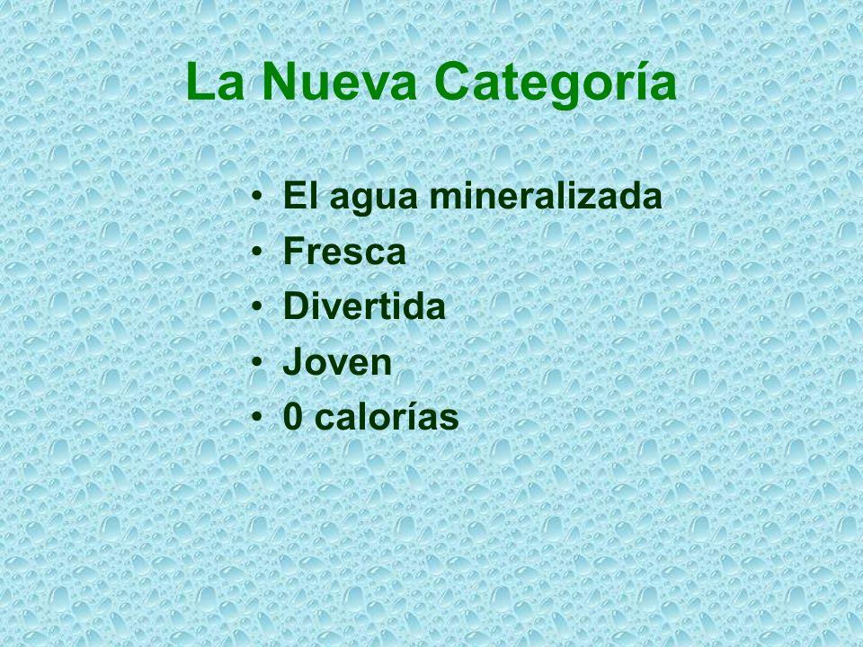 La Nueva Categoría El agua mineralizada Fresca Divertida Joven