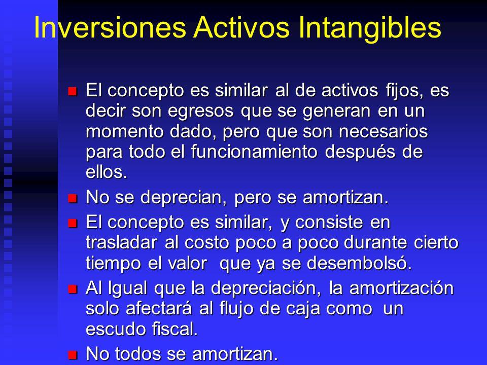 Inversiones Activos Intangibles