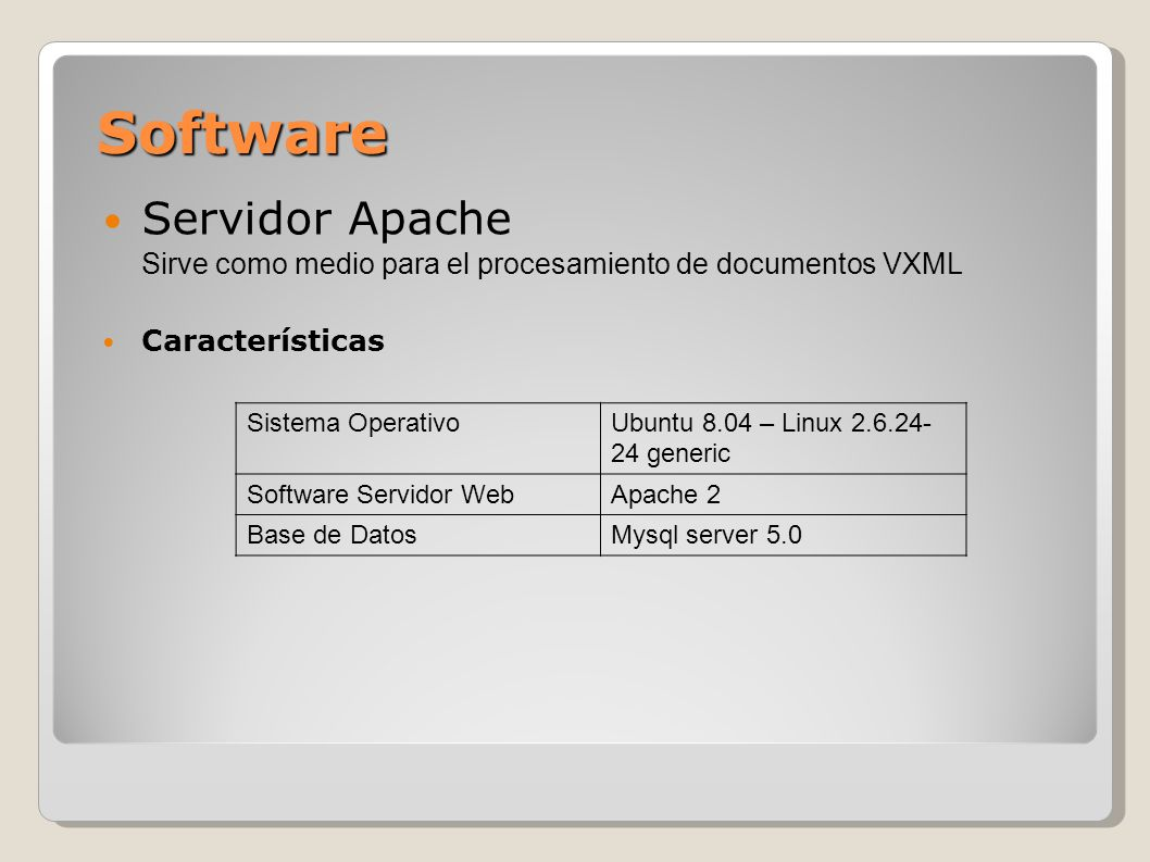 Software Servidor Apache