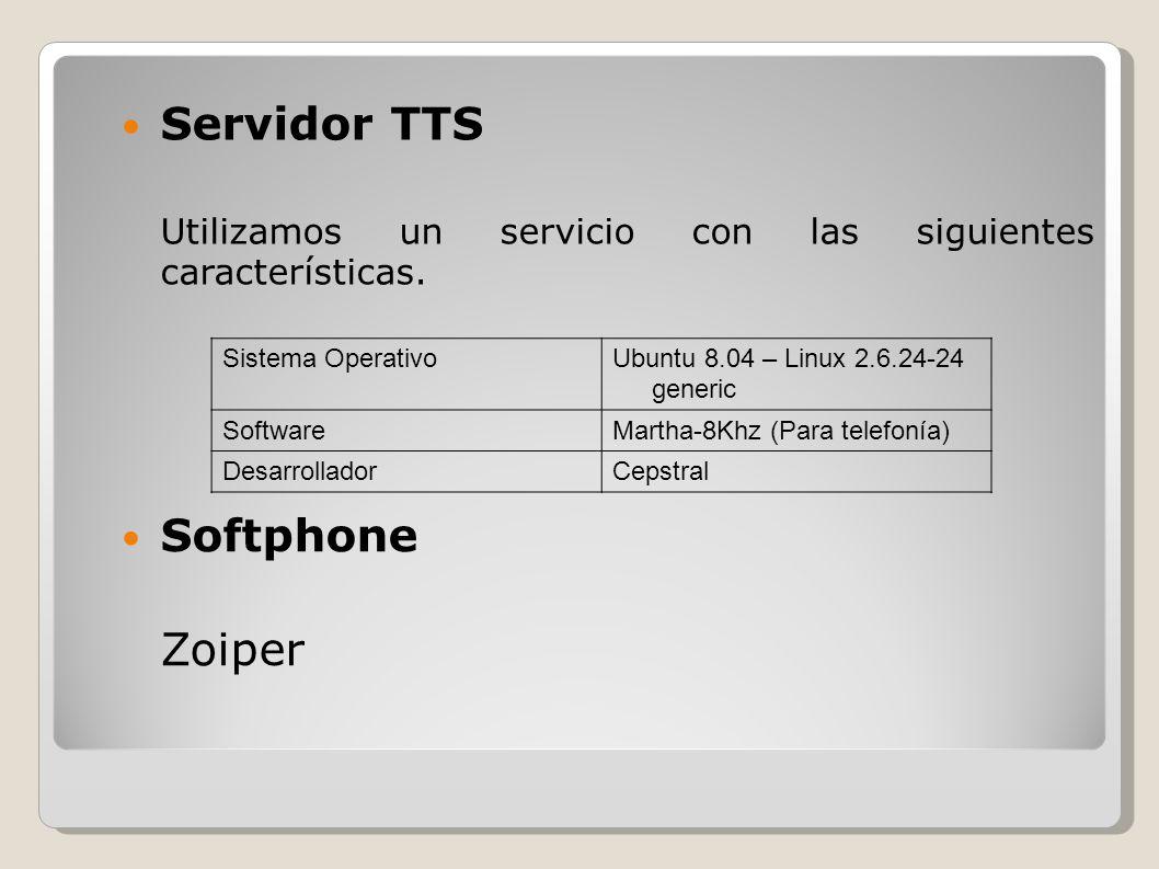 Servidor TTS Softphone Zoiper