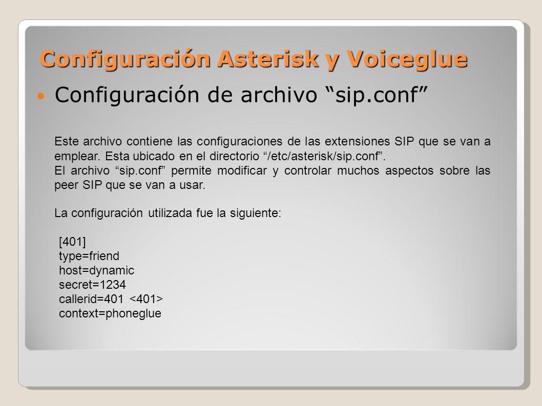 Configuración Asterisk y Voiceglue