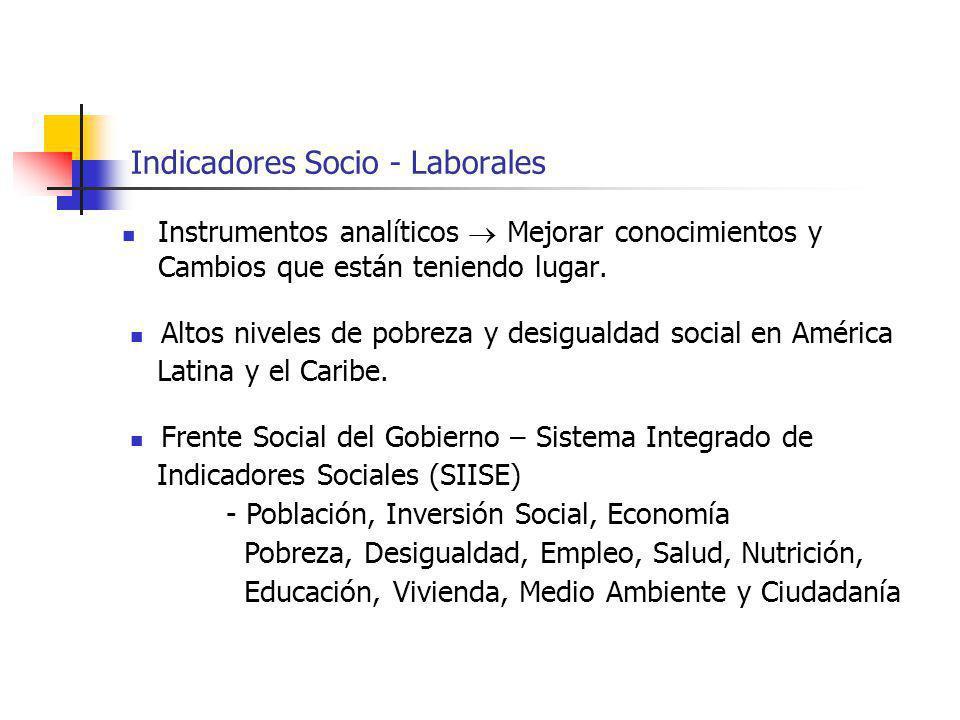 Indicadores Socio - Laborales