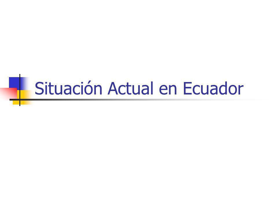 Situación Actual en Ecuador