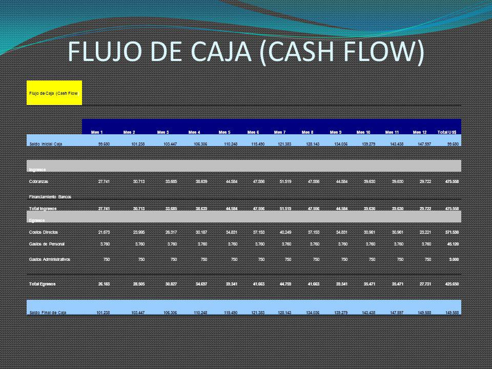 FLUJO DE CAJA (CASH FLOW)