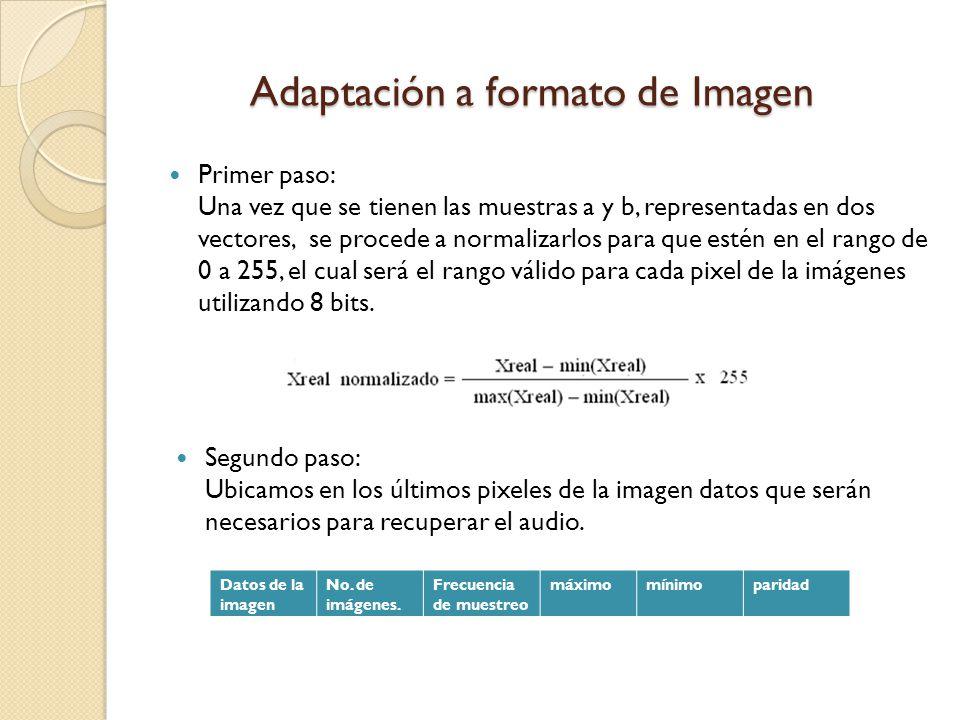 Adaptación a formato de Imagen