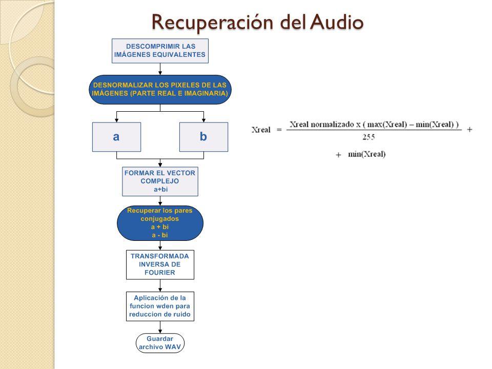 Recuperación del Audio