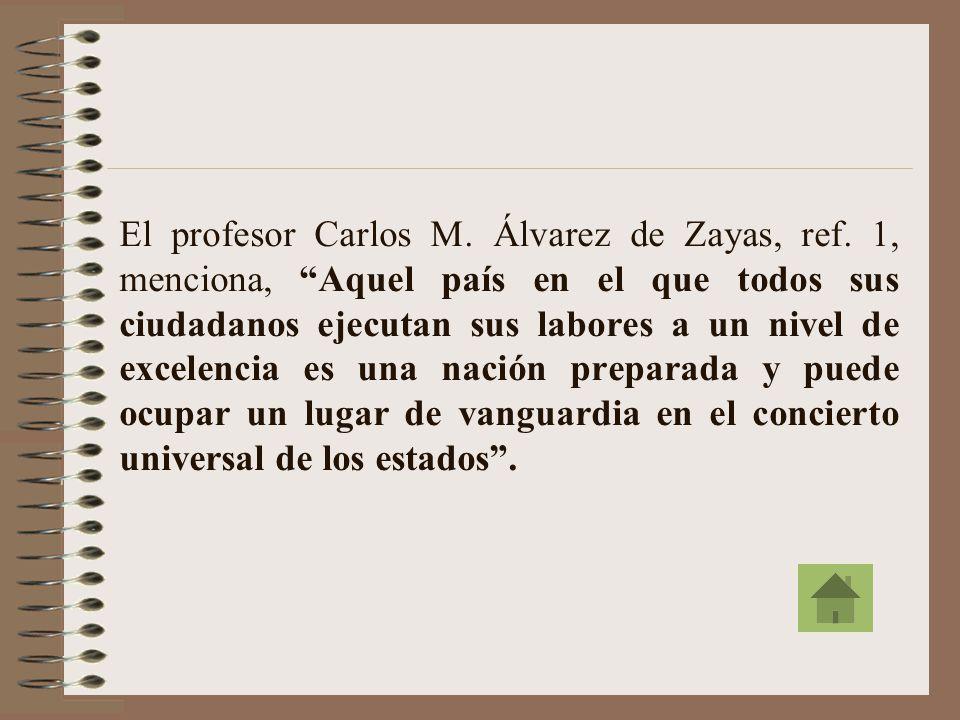 El profesor Carlos M. Álvarez de Zayas, ref