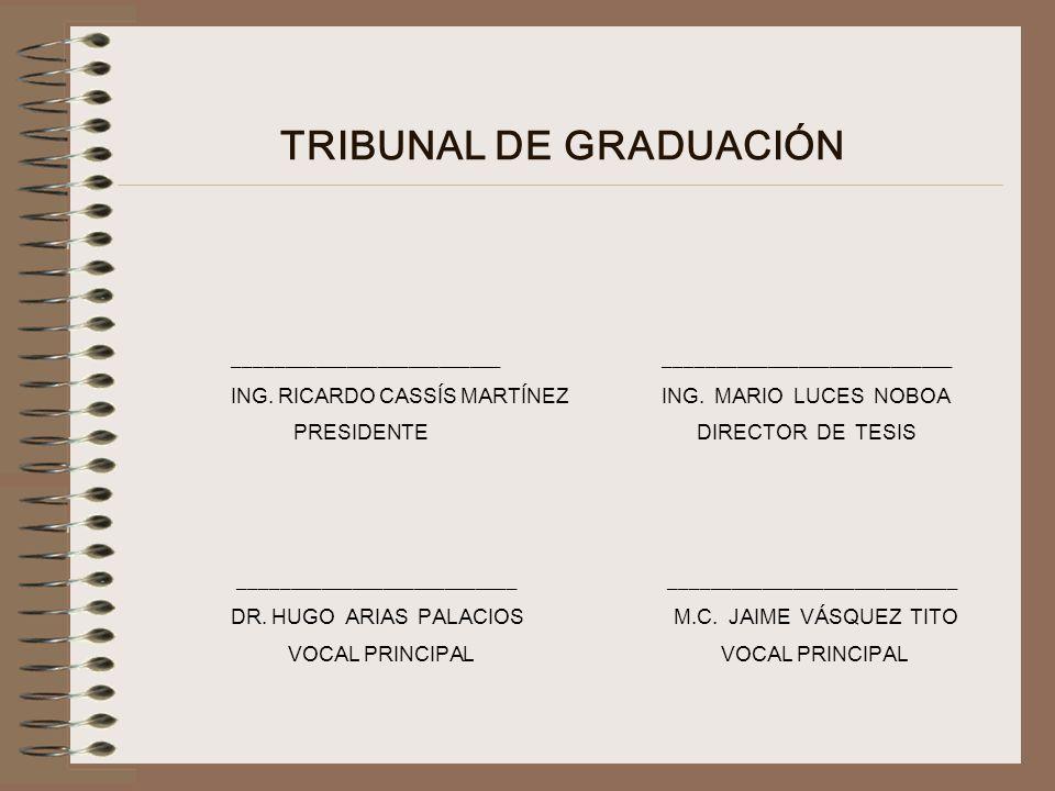 TRIBUNAL DE GRADUACIÓN