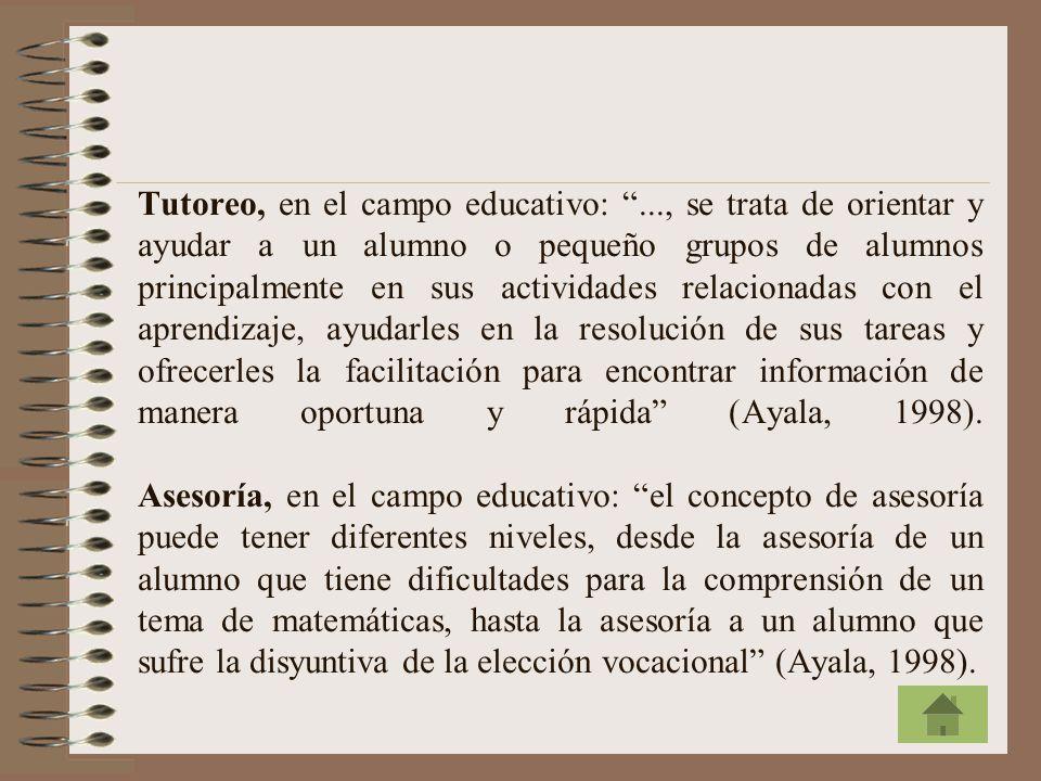 Tutoreo, en el campo educativo: