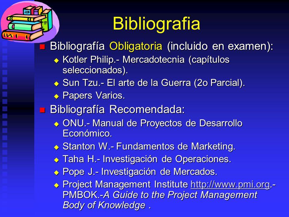 Bibliografia Bibliografía Obligatoria (incluido en examen):