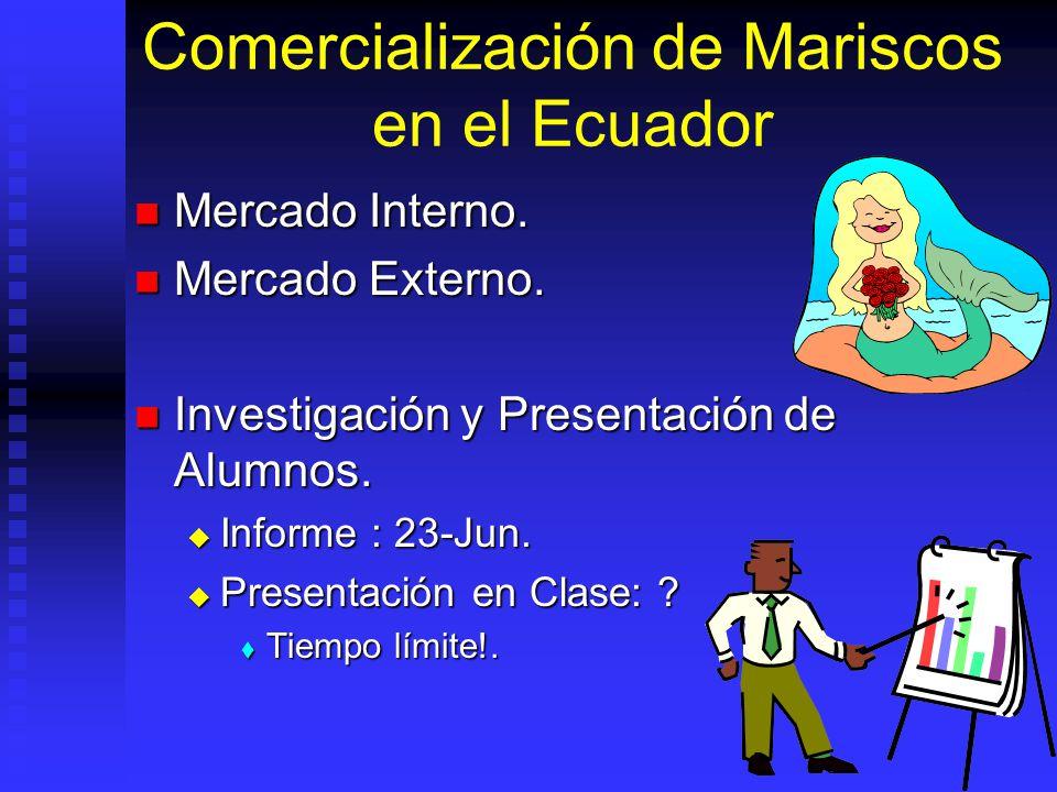 Comercialización de Mariscos en el Ecuador
