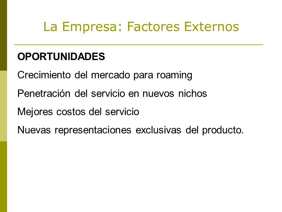 La Empresa: Factores Externos