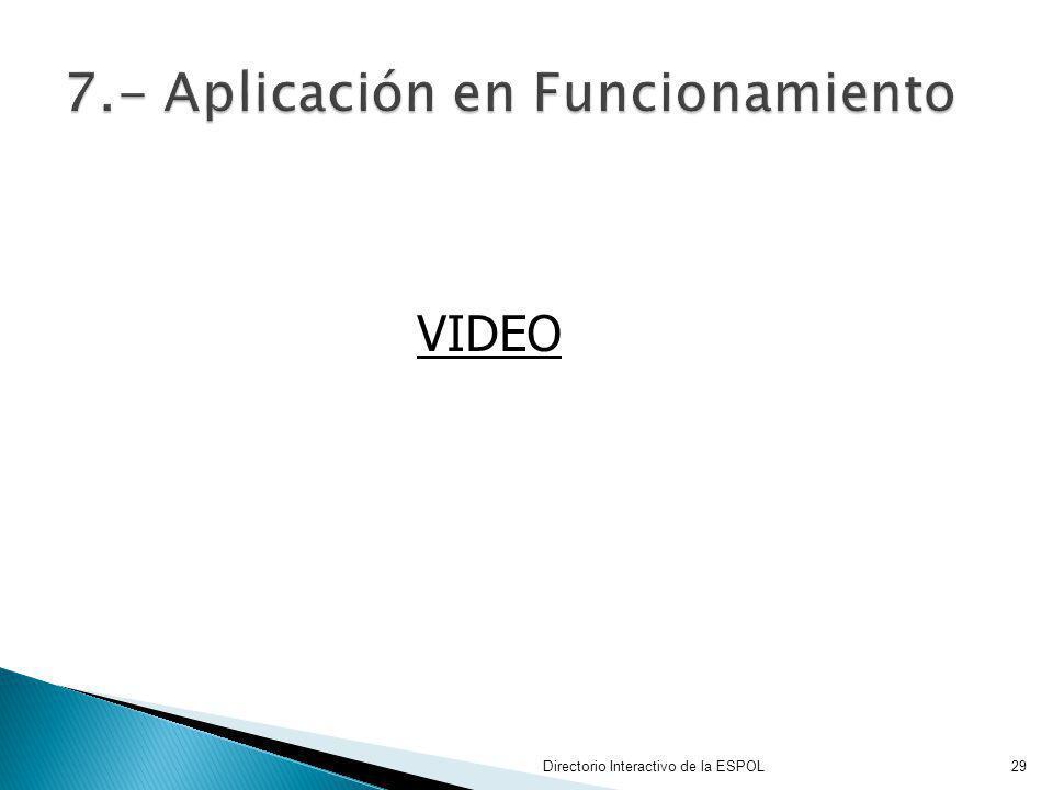 7.- Aplicación en Funcionamiento