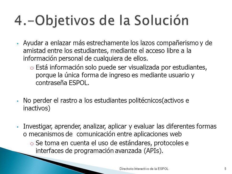 4.-Objetivos de la Solución