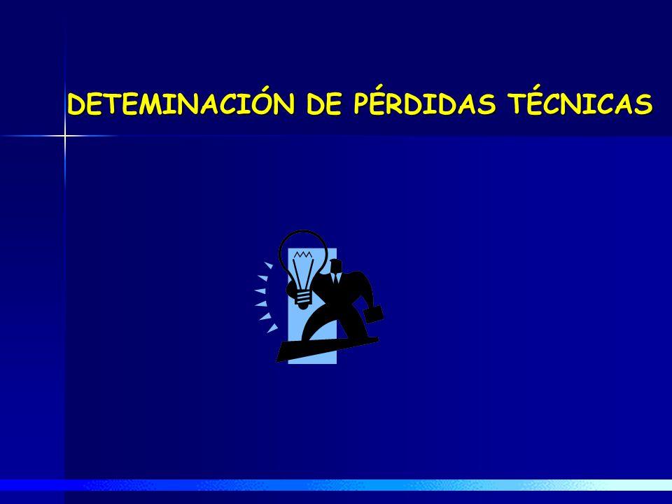 DETEMINACIÓN DE PÉRDIDAS TÉCNICAS