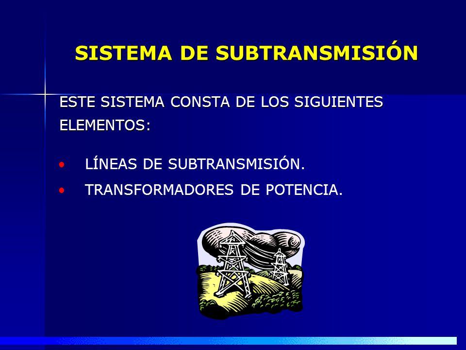 SISTEMA DE SUBTRANSMISIÓN