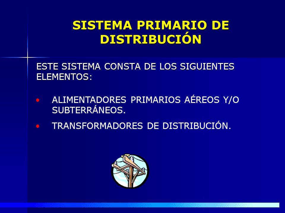 SISTEMA PRIMARIO DE DISTRIBUCIÓN