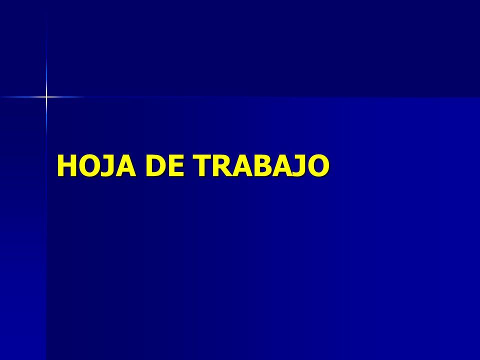 HOJA DE TRABAJO