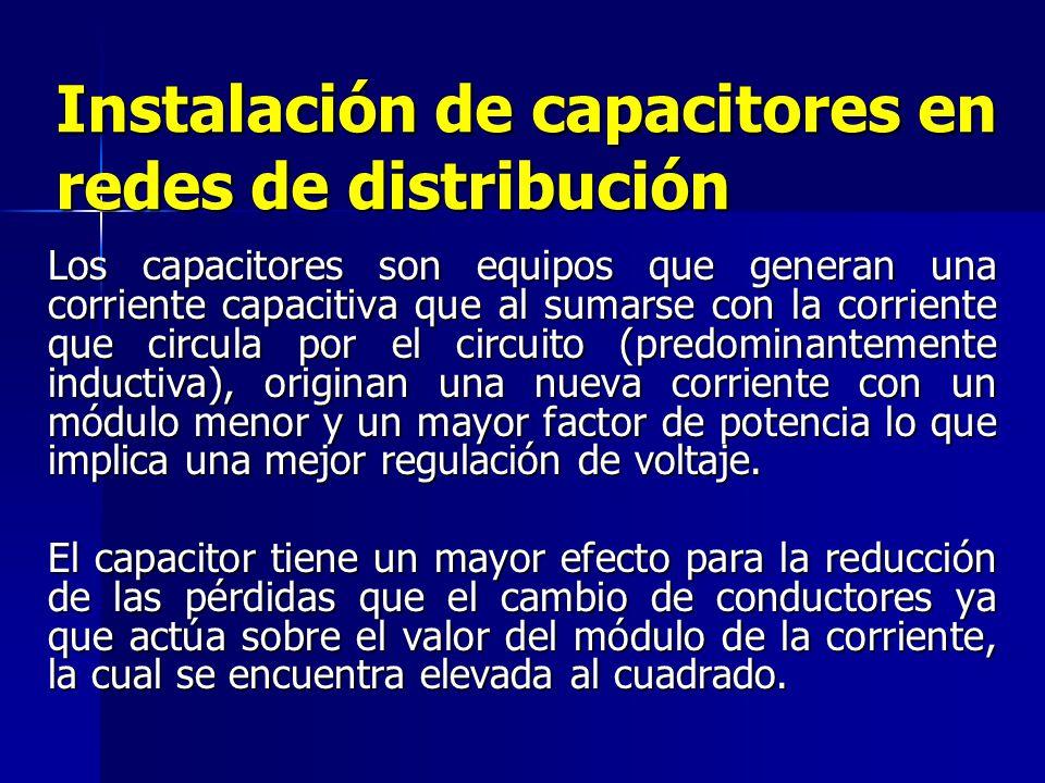 Instalación de capacitores en redes de distribución