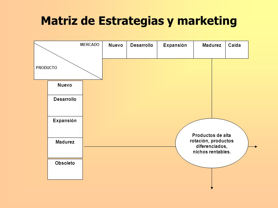 Matriz de Estrategias y marketing