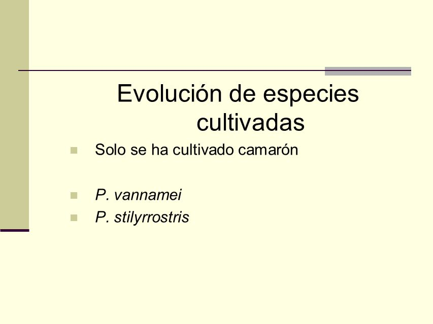 Evolución de especies cultivadas