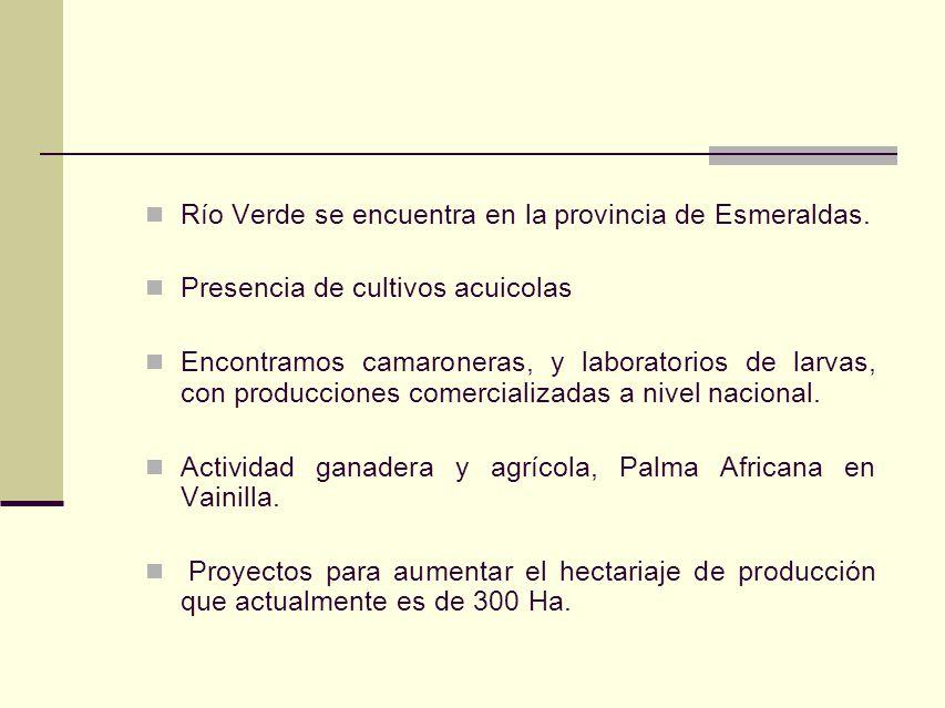Río Verde se encuentra en la provincia de Esmeraldas.