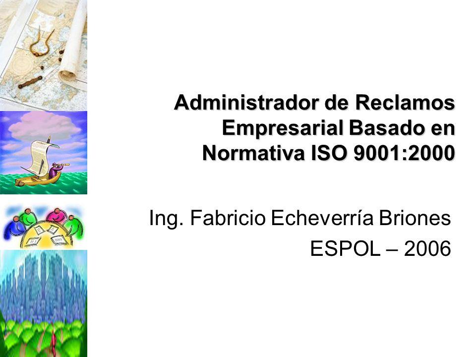 Ing. Fabricio Echeverría Briones ESPOL – 2006