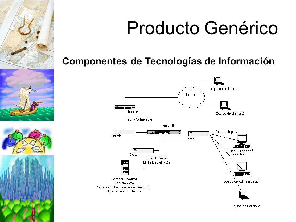 Producto Genérico Componentes de Tecnologías de Información