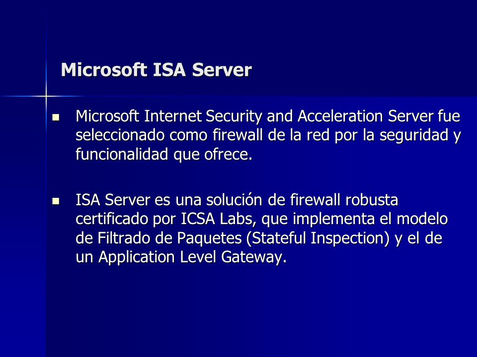 Microsoft ISA Server