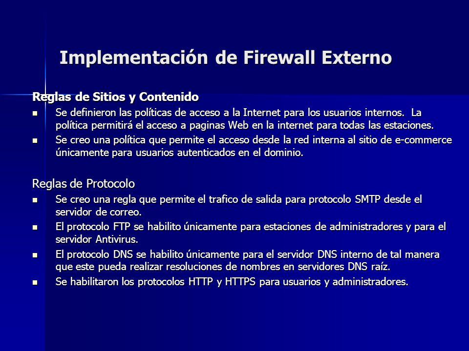 Implementación de Firewall Externo