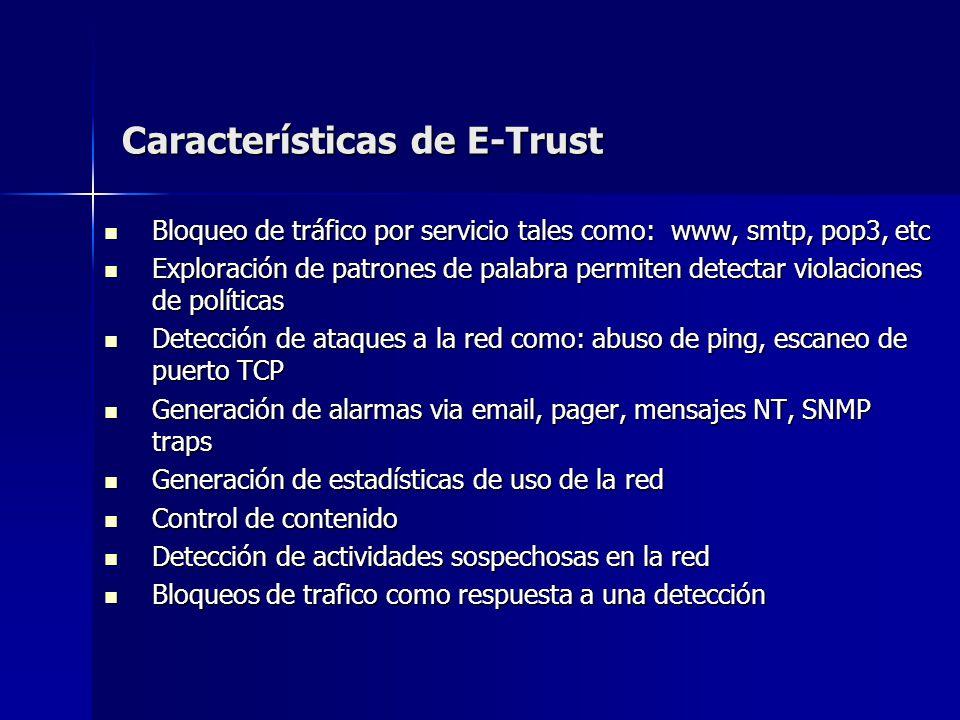 Características de E-Trust