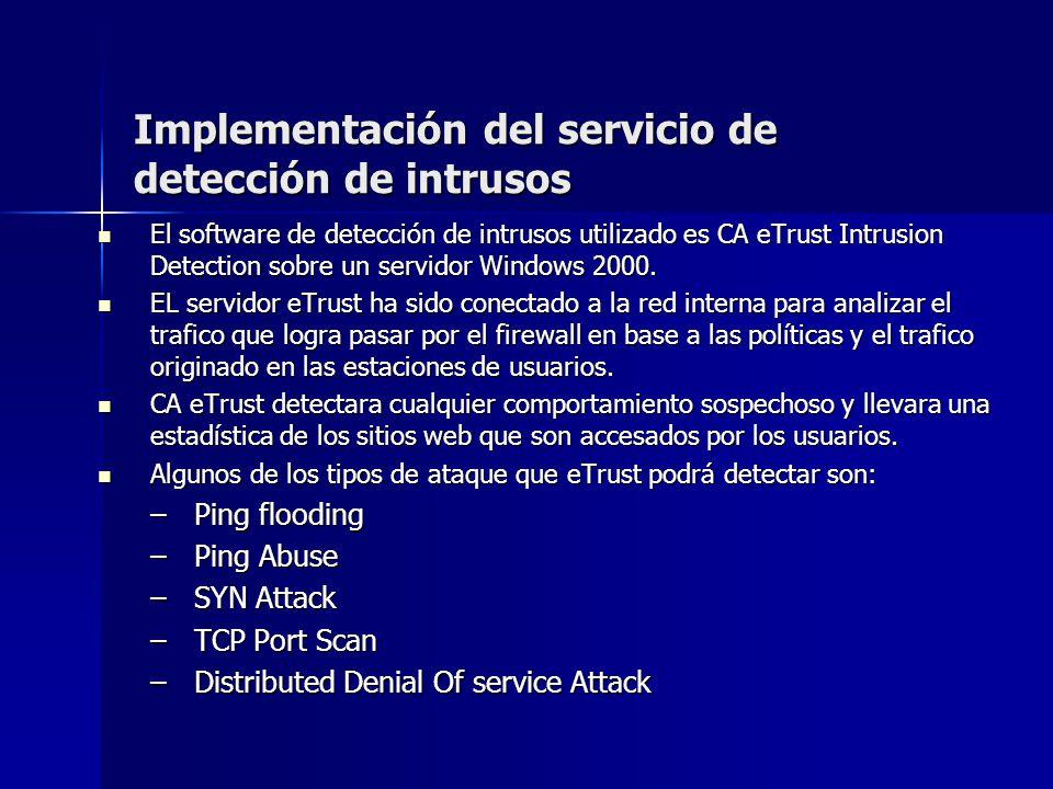 Implementación del servicio de detección de intrusos